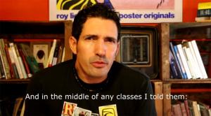 César Bona en un momento del vídeo de su candidatura.
