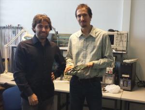 Javier Olivito y Javier Resano, miembros del grupo de investigación. / Foto; Unizar.
