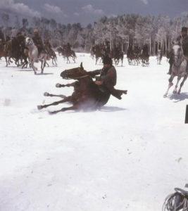 Las batallas sobre el lago helado se rodaron en junio.