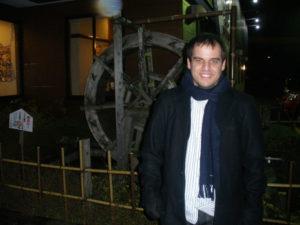 El español Emilio José Delgado, a las afueras de Tsuruoka.