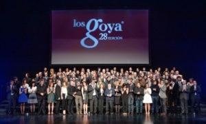 Foto de familia de los nominados a la 28 edición de los Premios Goya. / http://premiosgoya.academiadecine.com