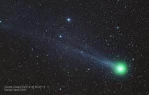 Imagen del cometa 'Lovejoy'. / Foto: Daniel López (IAC)