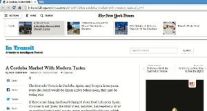 El Mercado Victoria en el New York Times.