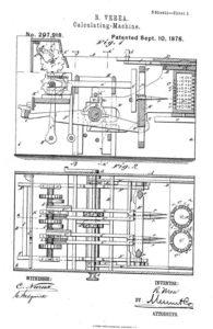 Planos entregados por el gallego para patentar su invento.