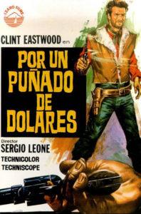 Cartel de la cinta 'Por un puñado de dólares'.