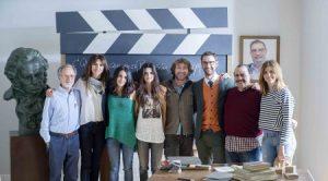 Los protagonistas del spot de la 29 edición de los Goya. / Foto: Alberto Ortega - Cortesía de la Academia de Cine.