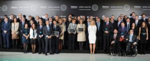 Foto de familia de los premiados. / Foto: www.telefonicaabilityawards.com