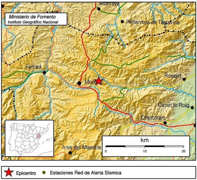 La Comunidad Valenciana registra sin daños tres pequeños terremotos en 10 horas
