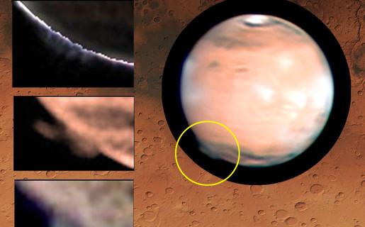 Investigadores españoles miden el penacho más alto jamás observado en Marte