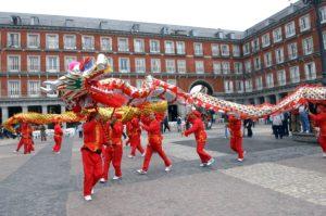 Festejo del Año Nuevo Chino en la Plaza Mayor (Madrid). / http://www.madrid.es