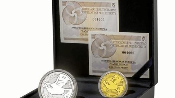 La Fábrica de la Moneda acuña una serie que conmemora los 70 años de paz en Europa