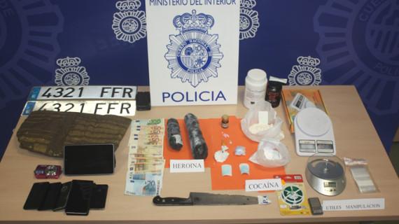 La Policía Nacional desarticula en Lleida un grupo organizado de distribución de heroína y cocaína