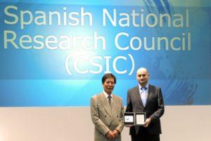Javier Maira, del CSIC, recoge el premio Business Matching Award.