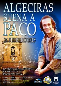 Cartel del evento 'Algeciras suena a Paco'.