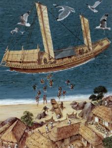 Saqueo de los piratas japoneses. / https://aforjar.wordpress.com