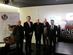 Presentación del XXII Festival Solidario de Cine Español en Cáceres.