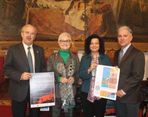 Luis Cruz, Mª Dolores Suárez Ortega, James Elser e Isabel Reche.