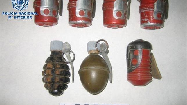 Los Tedax retiran siete granadas de mano de la Guerra Civil en una bodega en Cabra