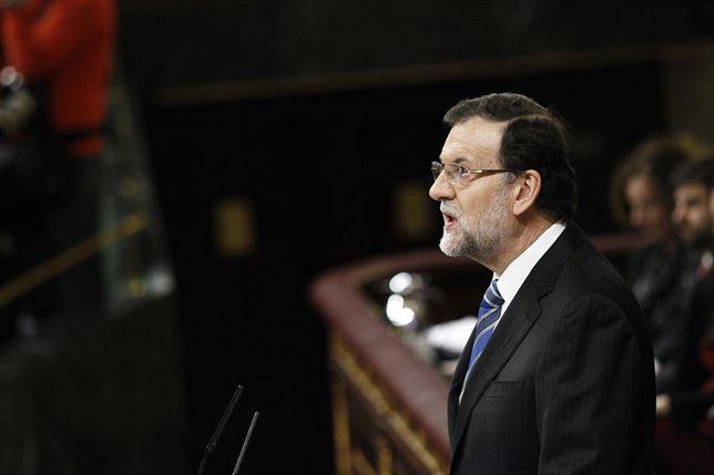 El presidente del Gobierno, en un momento de su discurso. / Foto: Europa Press.