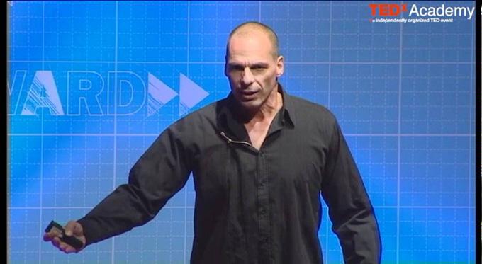 El ministro de Economía de Grecia, Varoufakis. / Foto: Youtube.