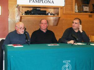Presentación de la novela en Pamplona.