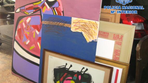 La Policía incauta 271 imitaciones de obras pictóricas y esculturas de reconocidos artistas