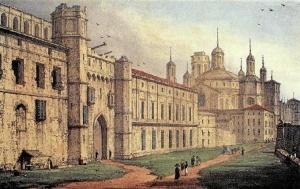 Puerta del Ángel: Puertas de los Angelos & cathedral del Pilar. Edward Hawke Locker, 1823 / Foto cedida por Chusé Bolea