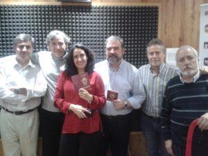 Con sus compañeros de 'La escobula brújula'.