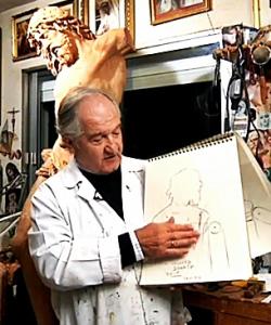 El escultor Luis Álvarez Duarte.
