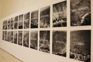 Imágenes de la exposición sobre Zurita.