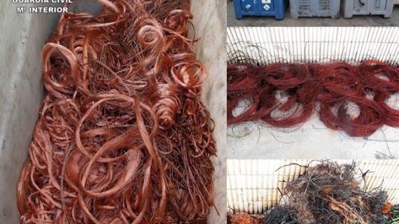 Detenidas 16 personas y recuperados una tonelada de cable de cobre sustraído en la provincia de Ciudad Real