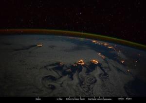 Canarias vista desde el espacio. / Foto: Samantha Christoforetti.