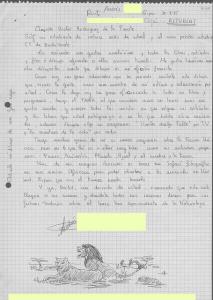 Muchas cartas incluían también dibujos y poemas.