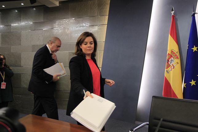 Rueda de prensa posterior al Consejo de Ministros. / Foto: Europa Press.