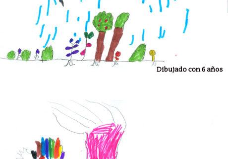 El color del dibujo de los niños se relaciona con la comprensión infantil de la vida vegetal