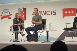 Mark Zuckerberg durante su intervención en Barcelona. / Foto: Europa Press.