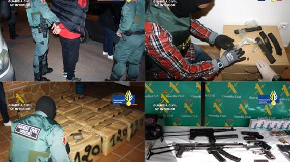 Detenidos los 12 integrantes de una organización criminal que introducía hachís en Europa desde Marruecos