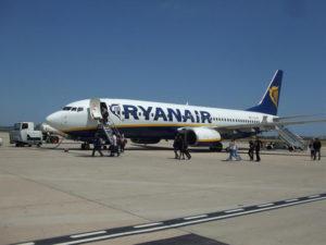 Avión de la compañía Ryanair. / Foto: Aena.