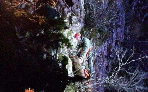 Rescatado un espeleólogo que sufrió un accidente en la provincia de Burgos