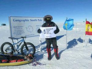 Tras alcanzar el Polo Sur fue trasladado a la base antártica Union Glacier.