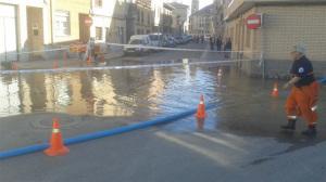 Utebo ha sufrido la crecida del Ebro. / Foto: Ayuntamiento de Utebo.