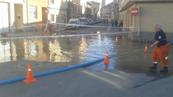 El municipio zaragozano de Utebo recupera la normalidad tras la crecida del Ebro