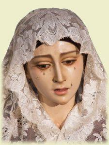 Virgen de los Dolores de la Hermandad de San José Obrero, que esculpió Álvarez a los 12 años. / Foto: hermandadsanjoseobrerosevilla.blogspot.com.es