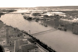 Gota a gota, la evolución del Ebro a su paso por Zaragoza