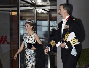 Los Reyes acudieron a la cena muy elegantes. / Foto: Casa Real.