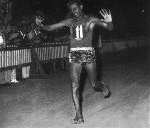 Abebe Bikila.