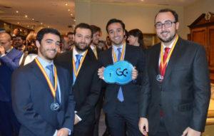 Los integrantes del equipo Vodafone-Ingenios industriales.