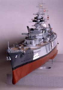 Modelo del acorazado Bismarck.