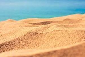Arena de playa.