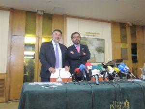 El director de Campofrío España, Ignacio González, ha dado a conocer los datos en rueda de prensa. / Foto: Europa Press.